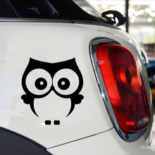 15*13.6cm Eule Cute Cartoon Animal Owl Vogel Bird Uhu Tier Musik Sticker Humour Fashion Vinyl Decals