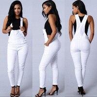 Lguc.H Jeans Woman Stretch Denim Overalls Women Jumpsuit Jeans 2019 Denim Suspenders Pants Woman Clothes Jumper Jean White Green