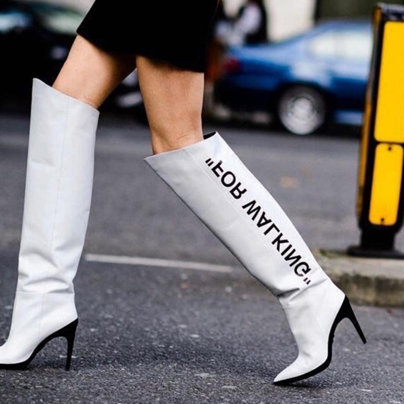 Haute Verni Chaussures Genou Summer Bottes De Cheville Hot Hautes Femmes Bérets 2019 Bout Printemps Femme Cuir Pointu 7xSTwqY