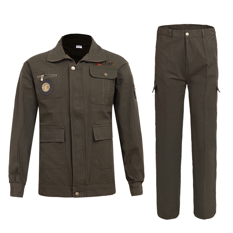 Men Welder Uniforms Work Clothing Sets Wear resistant Outdoor Clothes Long Sleeve Jackets+pants Male Working Factory Uniforms