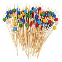 100 шт, 12 см, Коктейльные Палочки, креативные, ручной работы, цветочные бусинки, аппетитные палочки, Фруктовые палочки, вечерние принадлежности(смешанные