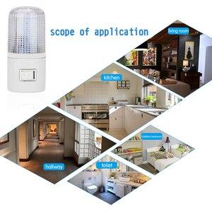 Image 5 - Led night light luz de emergência lâmpada de parede casa iluminação ue/eua plug lâmpada de cabeceira montado na parede 3 w energia eficiente lâmpada de poupança