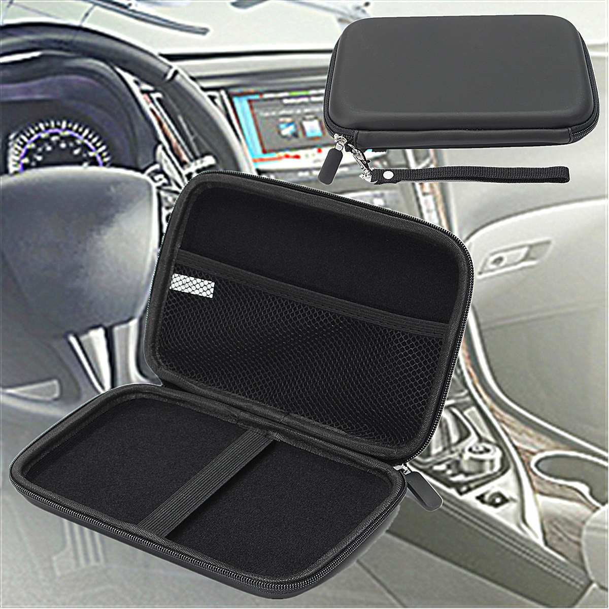 7 GPS Navigation Storage Bag Protection PU EVA Hard Shell Box Carry Case Cover Outdoor Travel Portable SAT NAV Holder Protector7 GPS Navigation Storage Bag Protection PU EVA Hard Shell Box Carry Case Cover Outdoor Travel Portable SAT NAV Holder Protector