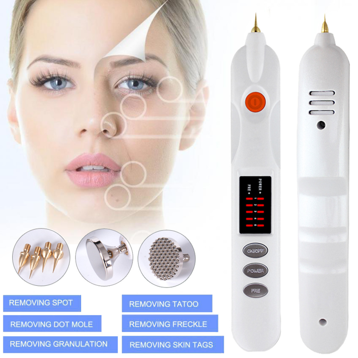 New Laser Plasma Pen Facial Skin Dark Spot Remover Mole Tattoo Removal Machine Face Blackhead Blemish Remover Personal Skin CareNew Laser Plasma Pen Facial Skin Dark Spot Remover Mole Tattoo Removal Machine Face Blackhead Blemish Remover Personal Skin Care