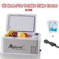 Новый 18L 12 V/24 V переносной мини холодильник 58x33x29 см автомобильный холодильник морозильник мини ремень привода вентилятора холодильники для