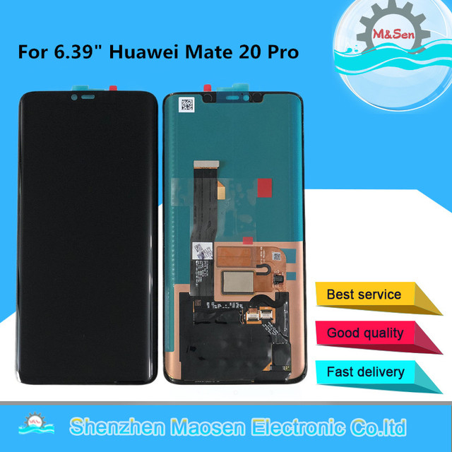 شاشة ام أند سين أصلية 6.39 بوصة لهاتف هواوي ميت 20 برو AMOLED شاشة عرض LCD + لوحة لمس محول رقمي بدون بصمة لشاشات Mate 20 Pro
