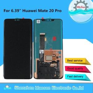 """Image 1 - 6.39 """"Originele M & Sen Voor Huawei Mate 20 Pro Amoled Lcd scherm + Touch Panel Digitizer Geen vingerafdruk Voor Mate 20 Pro Lcd"""