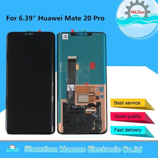 """6.39 """"orijinal M & Sen Huawei Mate 20 Pro AMOLED LCD ekran ekran + dokunmatik Panel sayısallaştırıcı yok parmak izi için Mate 20 Pro LCD"""