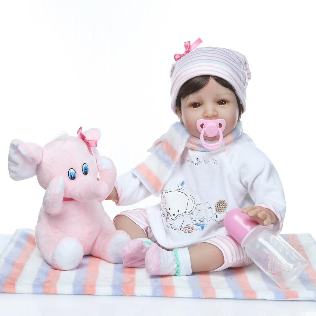 Kids Soft Silicone Realistic With Clothes Reborn Collectibles, Gift, Playmate Baby 2-4Years Doll Opened EyesKids Soft Silicone Realistic With Clothes Reborn Collectibles, Gift, Playmate Baby 2-4Years Doll Opened Eyes