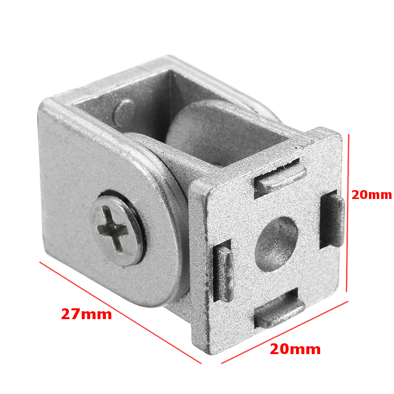 ZAH20 2Pcs Hinge Furniture Fittings Industrial Adjustable 180D Hinge Angle Connector Rotation Angle Hardware Zinc Alloy 20x20mm
