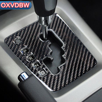 For Subaru Forester Carbon Fiber Car Center Control Gear Shift Panel Decorative Sticker Interior Trim Accessories 2008 2012