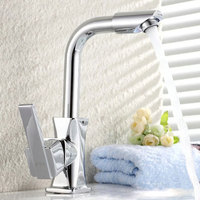 Kitchen Mixer Tap 360 Degrees Modern Brass Single Hole Fast Basin Faucet Bathroom Rotatable Home Cold Hot Water Deck Mounted