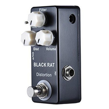 Universal Black Mini RAT Distortion Guitar Effect Pedal Two Model Distortion High Quality Guitar Effect Pedal цена и фото