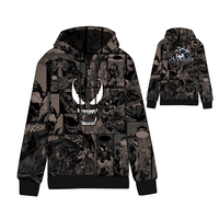 The Movie Venom Hoodie Hip Hop Fleece Cotton O Neck Mens Hoodies Standard Hooded Winter Clothes Marvel ComiWomen Sweatshirts Men
