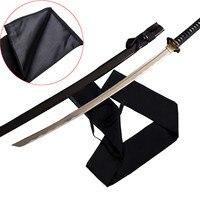 أسود ياباني سيف ساموراي كاتانا سكين القطن الغطاء الخارجي كبير طويل الحجم 1.3 متر اليابان السيف حقيبة لينة غمد