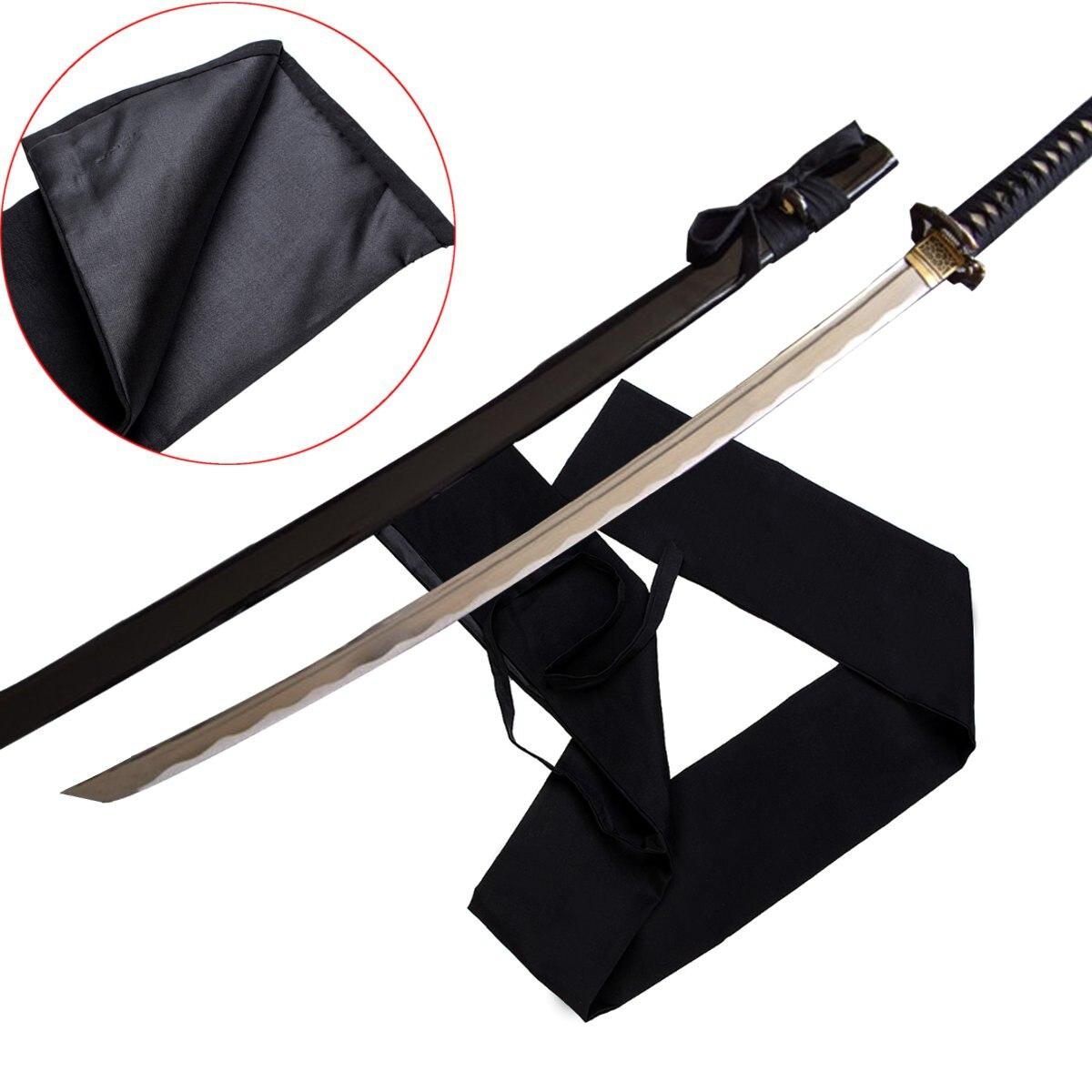 Черный японский самурайский меч нож Катана хлопок внешняя крышка большой длинный размер 1,3 м японский меч сумка мягкая оболочка