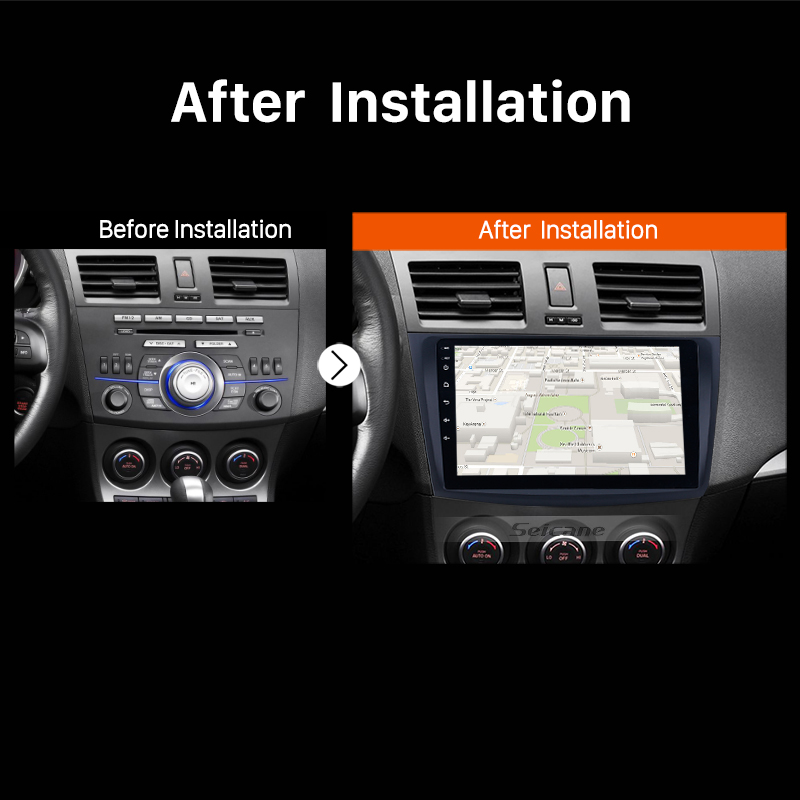 Image 5 - Seicane 9 Inch Android 8.1 Car Radio For 2009 2010 2011 2012 MAZDA 3 GPS Navi Wifi 3G Multimedia Player Head Unit Auto Stereo-in Car Multimedia Player from Automobiles & Motorcycles