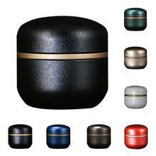 Одноцветная мини-коробка для чая, жестяная коробка для хранения, маленькие дорожные герметичные портативные чайные кофейные контейнеры, небольшая банка, органайзер для чайных коробок