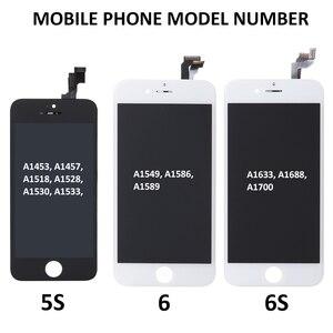 Image 5 - AAA フルセットアセンブリ Lcd ディスプレイ iphone 5S 6 6S プラス 6P 6SP タッチスクリーンデジタイザ完全な交換フロントカメラ