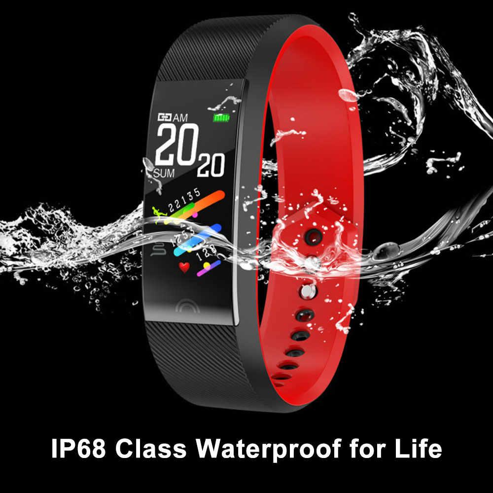 F6 Bluetooth חכם צמיד קצב לב צג צמיד כושר Tracker שעונים עמיד למים לנשים גברים שעון אנדרואיד IOS