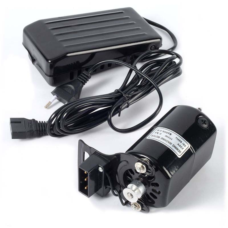 220V 100W Sewing Machine Motor 6500RPM Sewing Motor With Foot Pedal Controller Speed Pedal For Home Sewing Machine Accessories