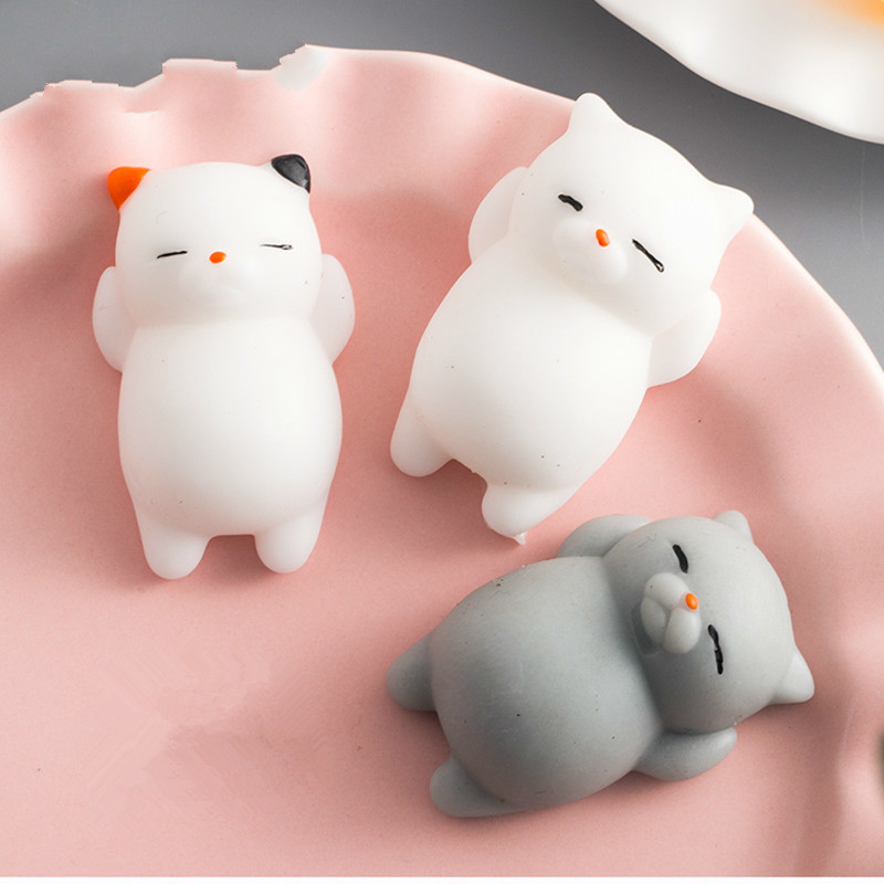 2018 NEW Mini Squeeze Toys Antistress Ball Squishy Cat Slow Rising Doll Stretchy Animal Healing Stress Hand Fidget Vent Fun Gift