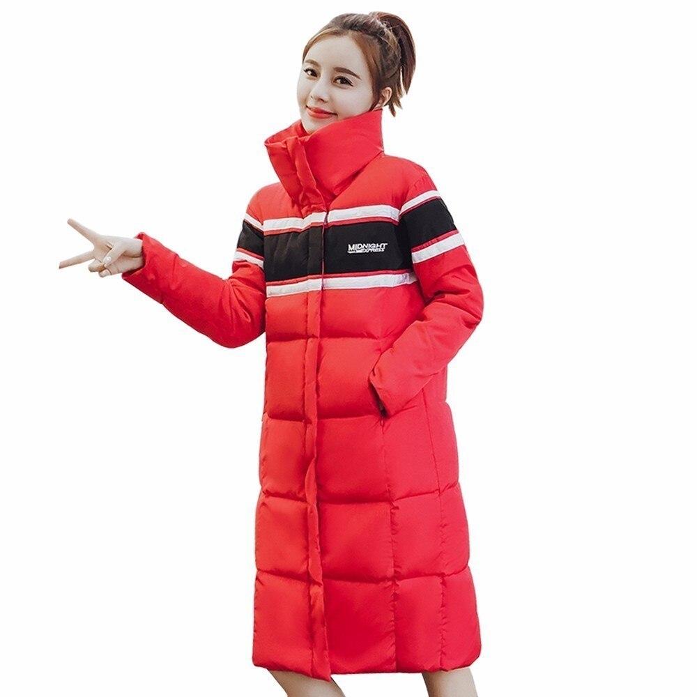 Pj239 Rembourré Épaississement Coupe red 2018 Black Vestes Col Casual Femelle Montant Coton Survêtement Parka Chaud Hiver Manteau Mode vent Femmes PTqw8Yw