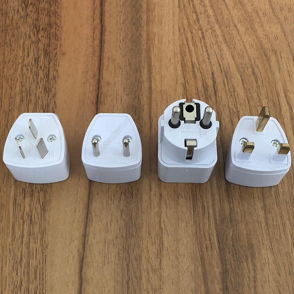 1PCS Universal EU GER AU UK Plug Adapter European Germany Australia Chinese Power Socket White Travel Converter Conversion Plug