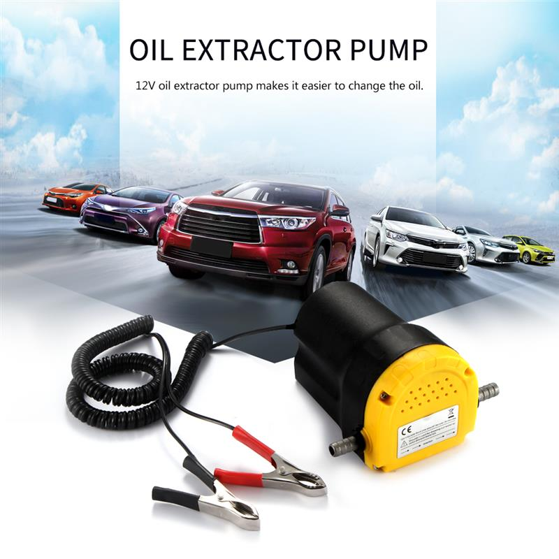 12V 5A Oil Transfer Pump Diesel Fuel Engine Oil Extractor Transfer Pump Electricity Mini Durable for Pump Diesel and Gasoline