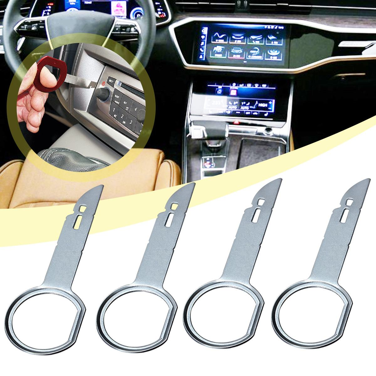 2PCS 4pcs Useful Practical Radio Stereo Release Removal Install Tool Key Installation For VW For Audi For Ford For Porsche