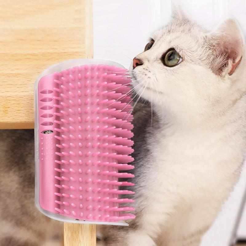 Pet Cat Self Groomer Cats Brush Corner Cat Massage Self Groomer Tickling Comb Brush Catnip Rubs Cat Grooming Tool Hair Removal