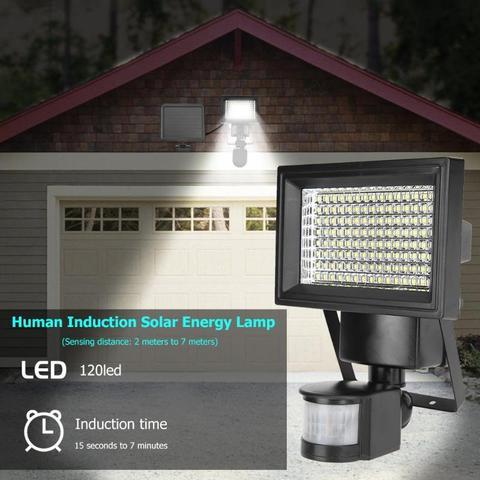 120 diodo emissor de luz solar wall