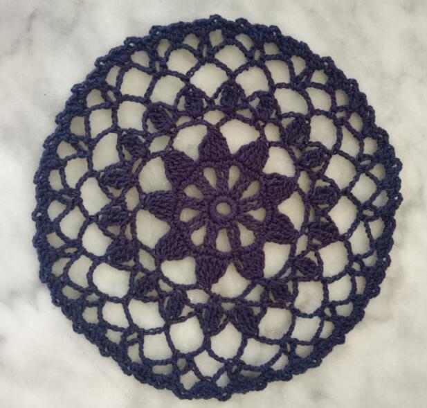 18CM Round Vintage Crochet Dining Doily Cotton Drink Glass Coaster Mantel Individual Mug Coffee Mat Wedding Christmas Placemat in Mats Pads from Home Garden