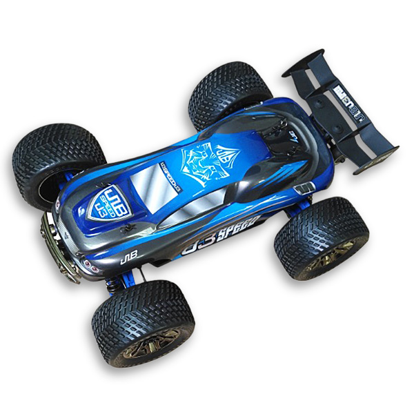 JLB Racing Velocidade 1/10 4WD J3 Off-Road Truggy Chassis De Metal/Big Bore Amortecedor/All- terreno Pneu de Carro RC Com o Transmissor