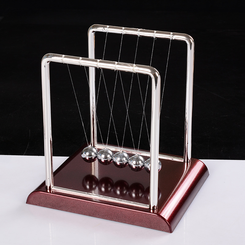 Mini Size Newtons Balance Ball Steel Cradle Physics Science Educational Learing Toys For Kids