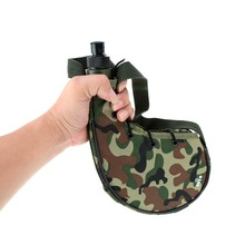 цена на Outdoor 750ml Camouflage Water Bottle Sports Camping Equipment Climbing Canteen for Cycling Camping Tramping Fishing