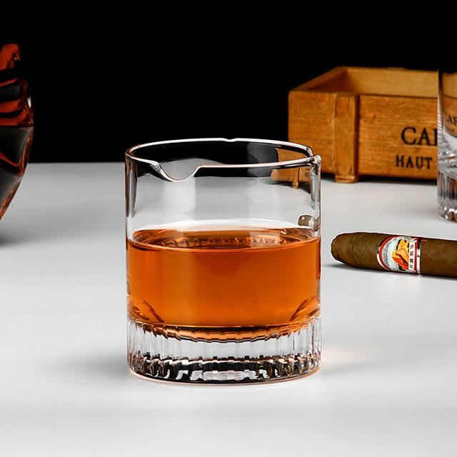 PRO Crystal Cigar Holder Glass Puritano Round Wine Glasses Whisky Usquebaugh XO Cup Brandy Whiskey Rock Vidro Verre Wholesale 4