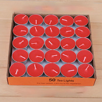 Chinese Tea Candles Light Candle Romantic Supplies Christmas Candele Velas Cumplea Os Red Yellow Happy Party 50X55