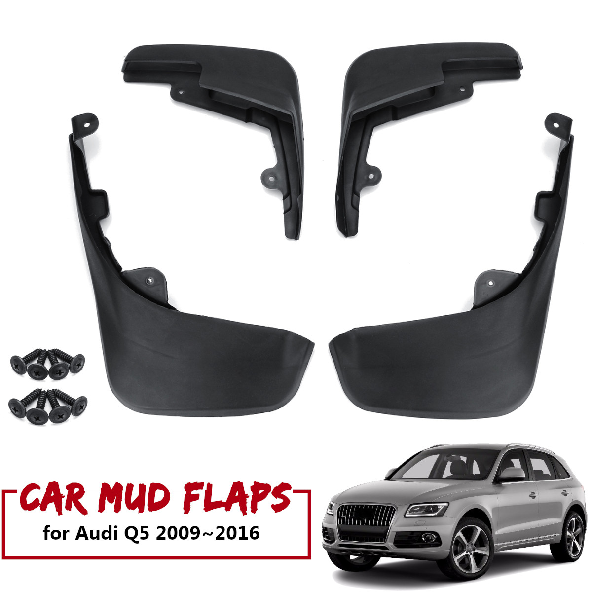 Mudflaps Mud Flap For Molded Audi Q5 2009-2016 Splash Guards Mudguards 4pcs