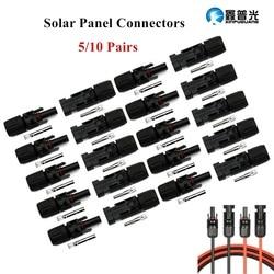 2/5/pares de MC4 10 Masculino/Feminino Painel Solar Conectores de Cabo Conectores Anel de Vedação À Prova D' Água