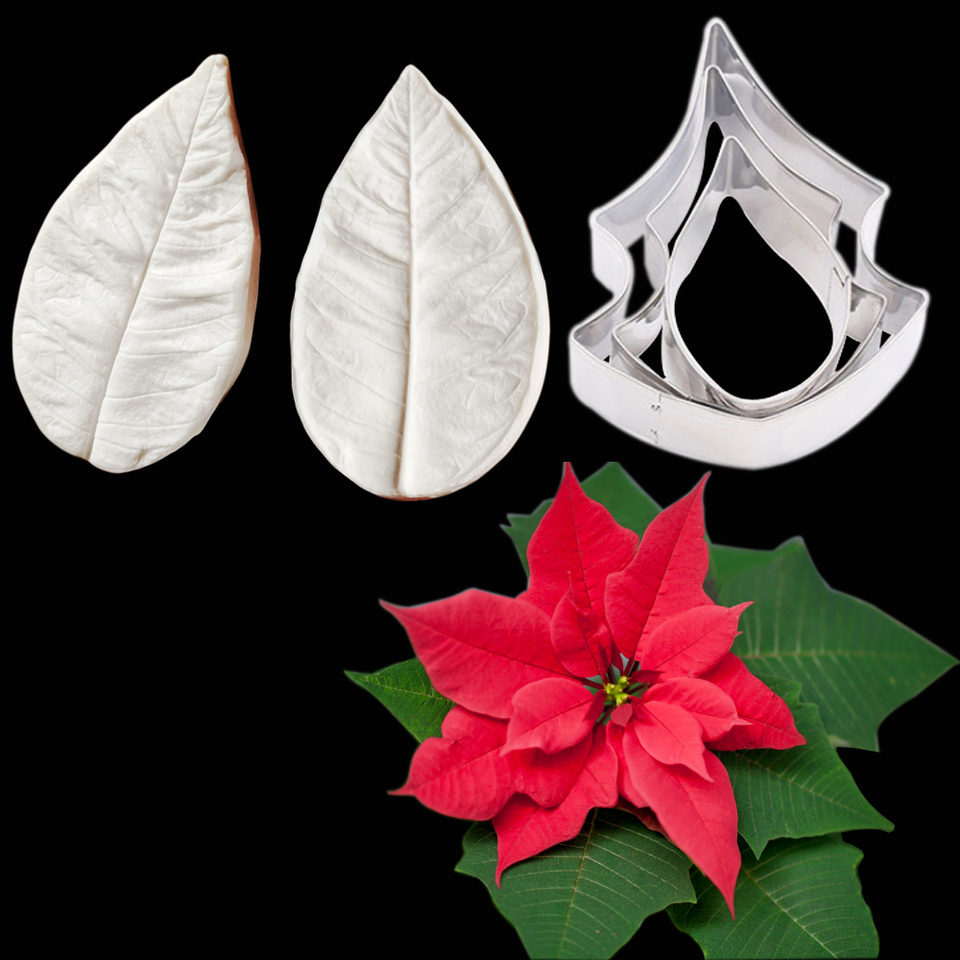 Home Kitchen Poinsettia Fondant Mold Flower Gumpaste Handmade Products Avmc Edu In