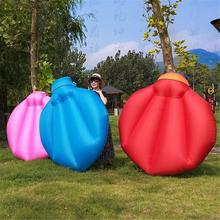 Outdoor Inflatable Sofa Bed Beach Sleeping Bed Portable Folding Bed Fast Air Wild Camping Pad Convenient Mattress Tool