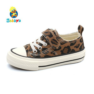Image 1 - Babaya Children Shoes For Girls Sneakers 2019 Spring New Fashion Kids Canvas Shoes Boys Autumn Student Casual Leopard Shoes