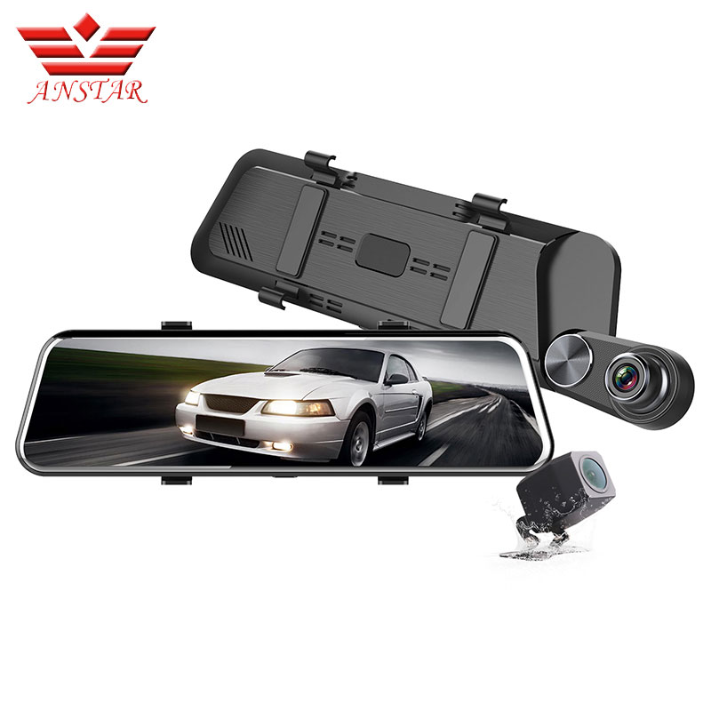 ANSTAR F960 Stream Mirror Dvr Dash Camera Registrar 10 IPS Touch Screen Full HD 1080P Mirror Dash Cam Night VisionANSTAR F960 Stream Mirror Dvr Dash Camera Registrar 10 IPS Touch Screen Full HD 1080P Mirror Dash Cam Night Vision