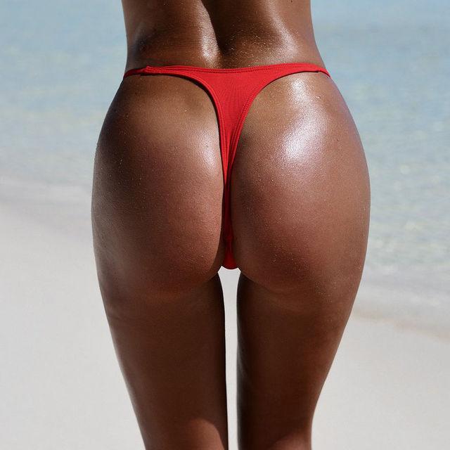Classic Cut Thong Bikini Bottoms in Solid Colors 5
