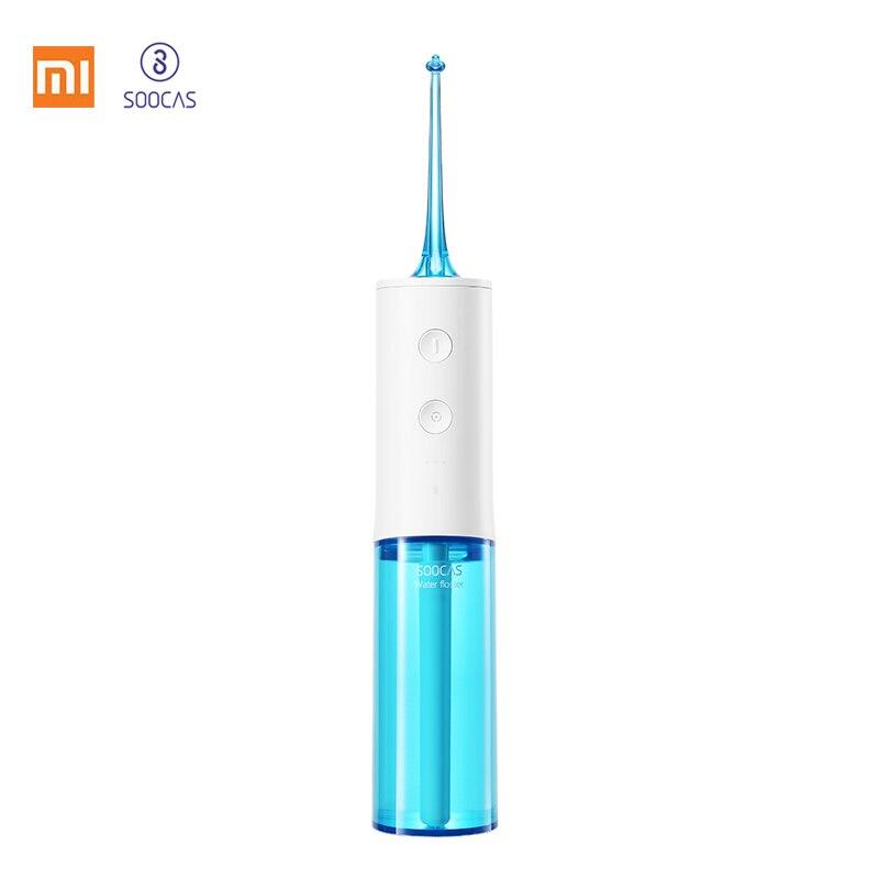Xiaomi SOOCAS W3 irrigador Oral de agua portátil de hilo Dental de limpieza de chorro de agua diente boquilla dentadura limpia cepillo de dientes