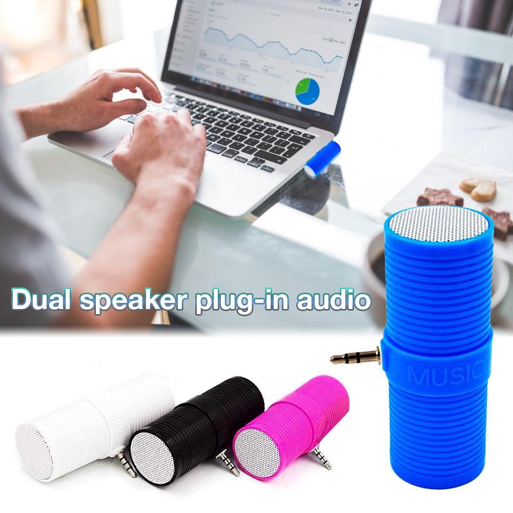 Image 2 - 3.5MM In   Line Stereo Mini Speaker Portable Speaker MP3 Music Player Speaker For Mobile Phones Tablets Direct Insert Speaker-in Portable Speakers from Consumer Electronics