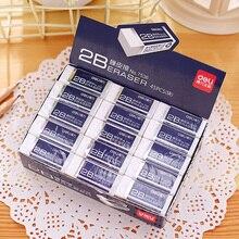 1 упаковка 30 шт. мягкий пластиковый резиновый ластик для школы и офиса карандаш ластик белый цвет Deli 20D7537