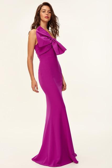 e60c3565b18c4 US $27.7 45% OFF|Trendyol Fuchsia Bow Detail Evening Dress TPRSS18FZ0217-in  Dresses from Women's Clothing on Aliexpress.com | Alibaba Group