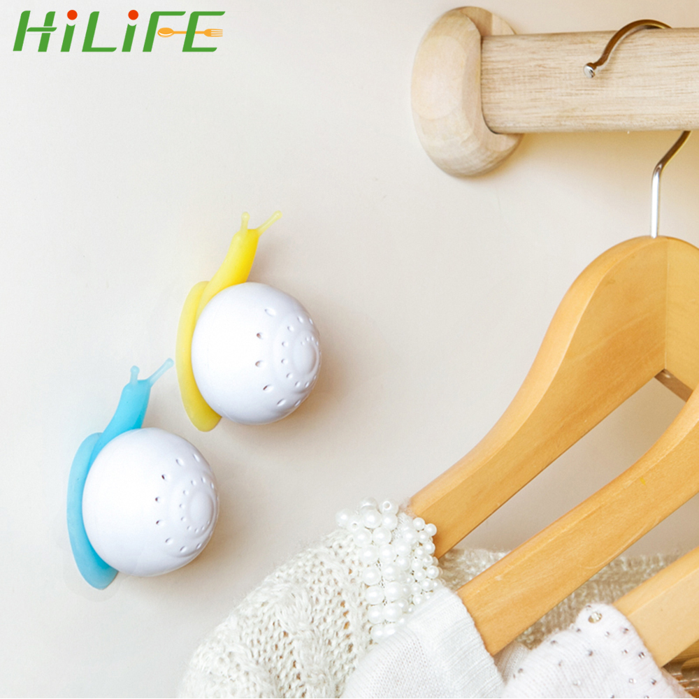 HILIFE Home Air Freshener Perfume Snail Shaped Cute Solid Air Freshener Suction Cup Wardrobe For Bathroom